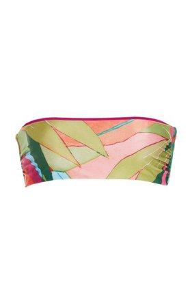 Abigail Printed Bandeau Bikini Top By Mara Hoffman | Moda Operandi