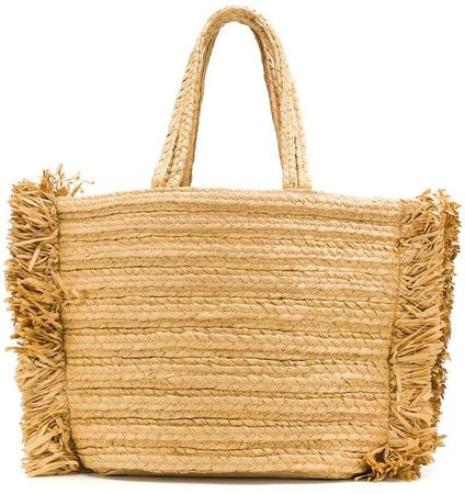 Dorothee fringed woven tote