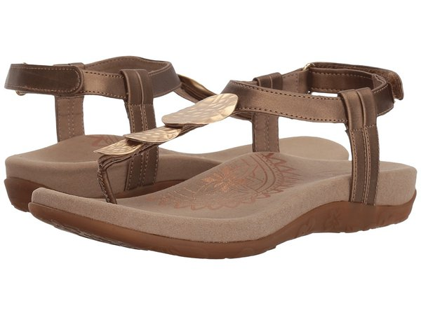 Aetrex - Olive (Gold) Women's Sandals