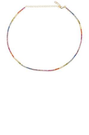 Rainbow Chain Choker