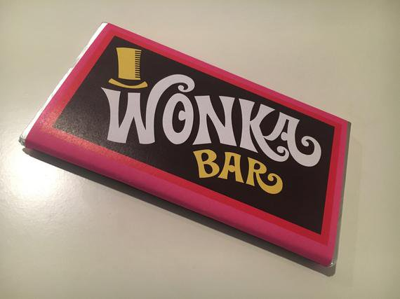 Willy Wonka and the Chocolate Factory: Digital Wonka Bar | Etsy