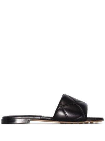 Shop black Bottega Veneta BV Lido sandals with Express Delivery - Farfetch