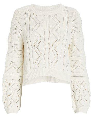 Jonathan Simkhai Madelyn Cropped Sweater | INTERMIX®