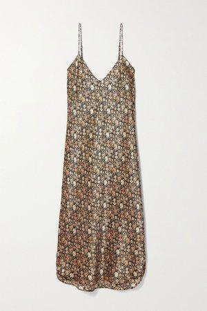 Multi Floral-print silk-satin dress | Nili Lotan | NET-A-PORTER