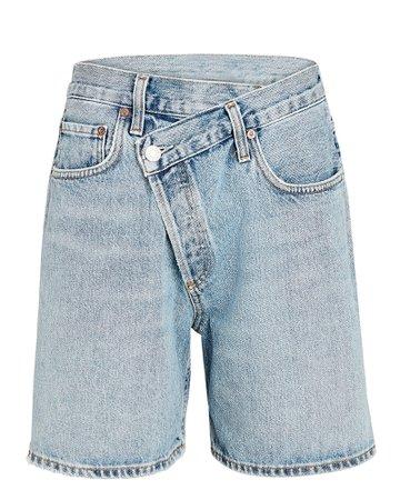 AGOLDE Criss Cross Denim Shorts | INTERMIX®