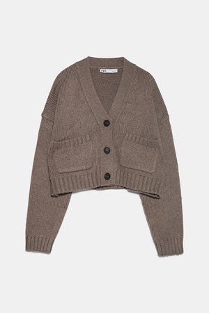 POCKET KNIT CARDIGAN | ZARA United States