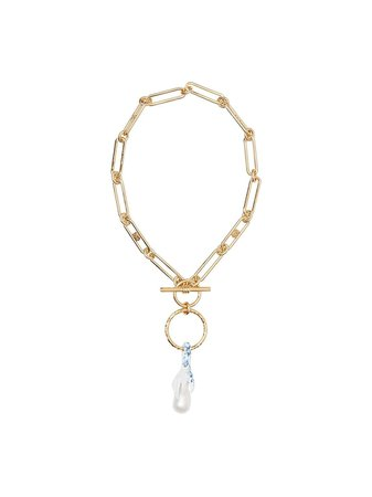 Burberry faux-pearl Detail Chain Necklace - Farfetch
