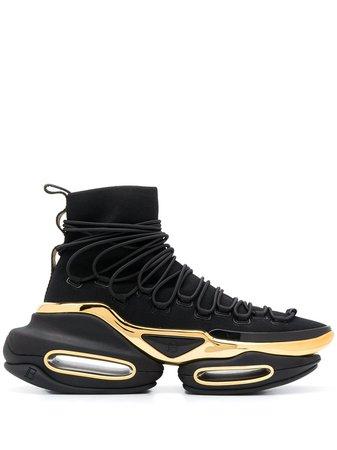 Balmain B-Bold platform sneakers black VN1C596TKNT - Farfetch