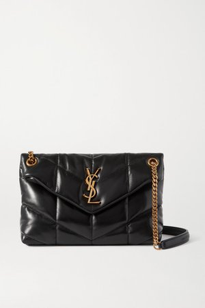 Loulou Puffer Small Quilted Leather Shoulder Bag - Black
