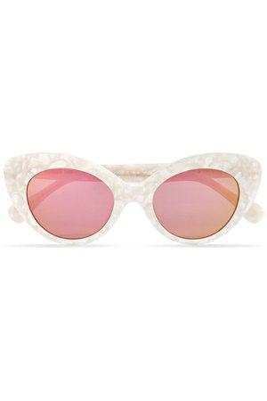 Roberi & Fraud   Agnes cat-eye acetate mirrored sunglasses   NET-A-PORTER.COM