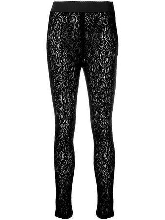 Dolce & Gabbana floral lace leggings