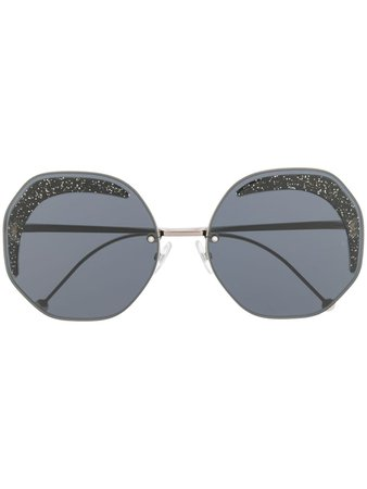 Fendi Eyewear Glitter Sunglasses - Farfetch