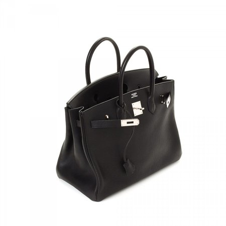Hermes firkin bag black silver hardware