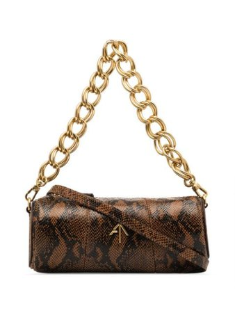 Manu Atelier Mini Cylinder Snake Effect Shoulder Bag - Farfetch