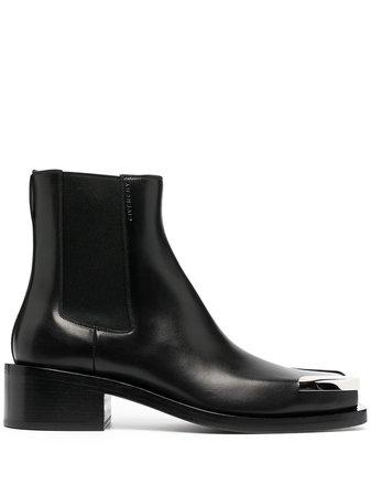 Givenchy metallic toe cap boots
