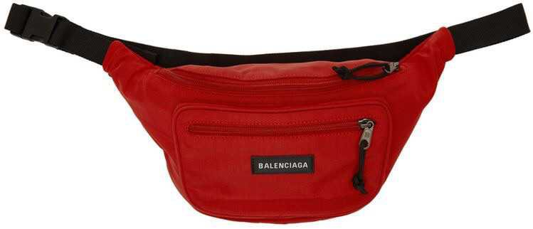 Balenciaga Red Nylon Explorer Belt Pouch