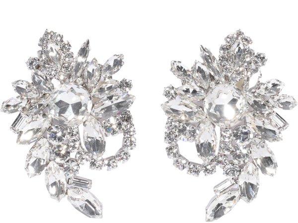 Alessandra Rich Crystal Cluster Earrings