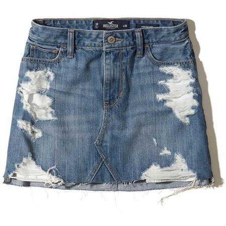 Hollister High-Rise Denim Skirt
