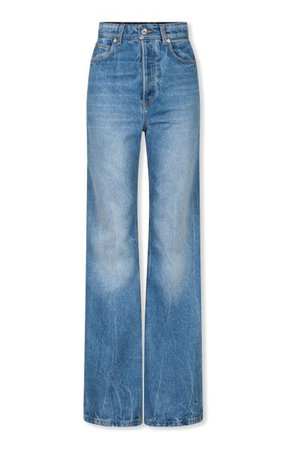 Rigid High-Rise Flared-Leg Jeans By Paco Rabanne   Moda Operandi