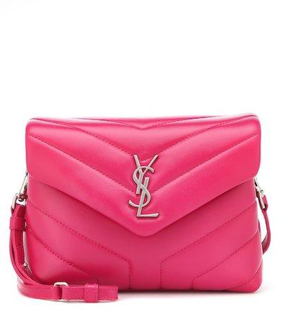 Mini Loulou leather shoulder bag