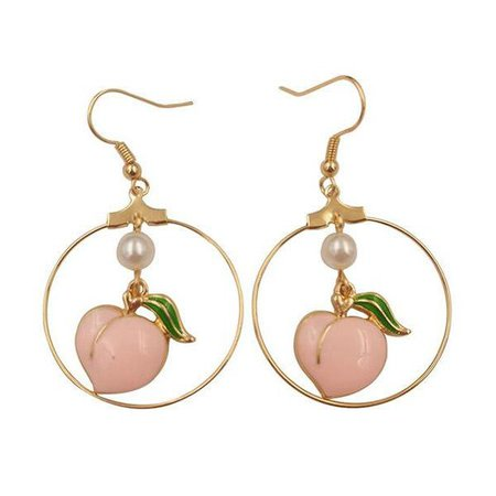peachy hoops