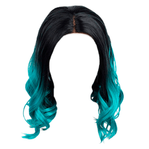 black and blue hair ombre png