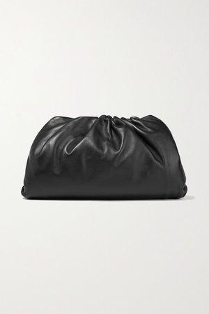 Black The Pouch large gathered leather clutch   Bottega Veneta   NET-A-PORTER