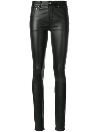 Saint Laurent Skinny Leather Trousers Ss20