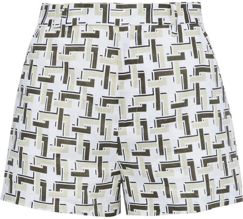 Jeannine Printed Linen Shorts