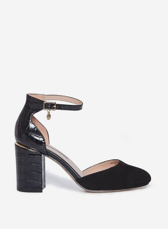 Wide Fit Black 'Debs' Court Shoes | Dorothy Perkins