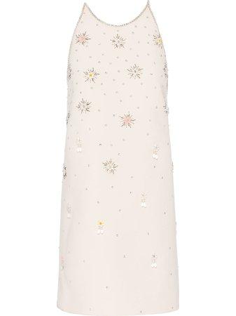 Miu Miu Embroidered Shift Dress - Farfetch