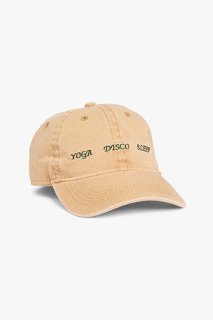 Embroidered baseball cap - Beige - Hats - Monki WW