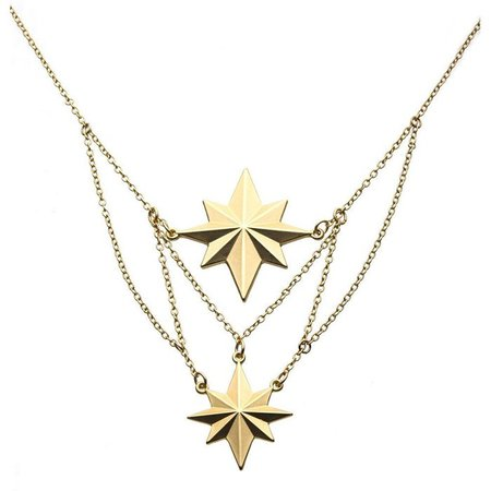 Captain Marvel Movie Star Tier Necklace