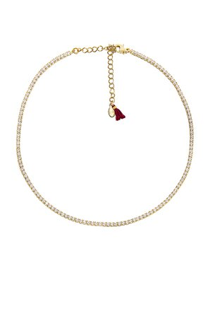 SHASHI Diamond Tennis Necklace in Gold | REVOLVE