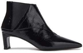 Metta Crinkled Patent-leather Ankle Boots