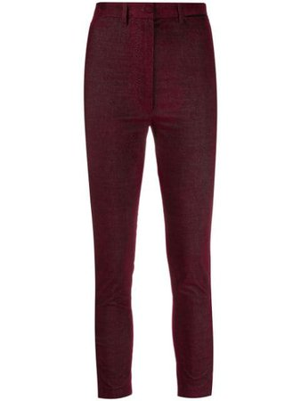 Ann Demeulemeester Cropped stretch-fit Trousers - Farfetch