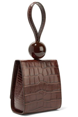 BY FAR | Ball croc-effect leather tote | NET-A-PORTER.COM