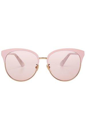 Gucci - Lunettes de soleil en métal - rose
