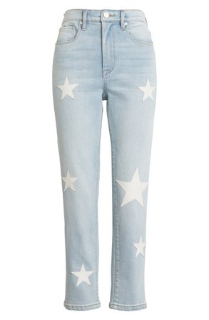 BLANKNYC The Madison Star Patch Crop Jeans | Nordstrom
