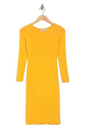 Long Sleeve Bodycon Midi Dress | Nordstromrack