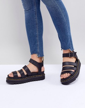 Dr Martens Vegan Blaire chunky sandals in black | ASOS