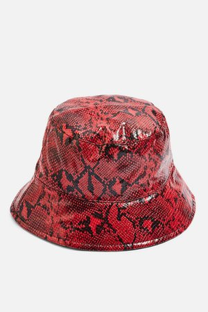 Snake Bucket Hat   Topshop