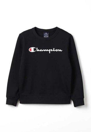 Champion CREWNECK - Sweatshirt - black - ZALANDO.FR