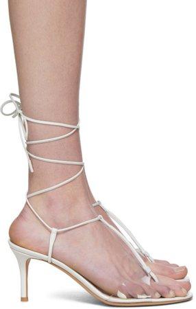 White Gwyneth Heeled Sandals