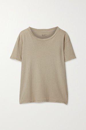 Beige Brady distressed cotton-jersey T-shirt   Nili Lotan   NET-A-PORTER