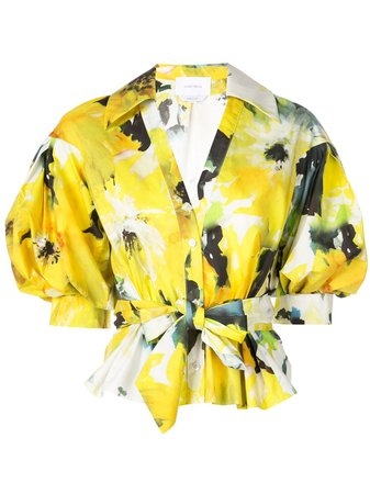 Marchesa, Floral Print Blouse