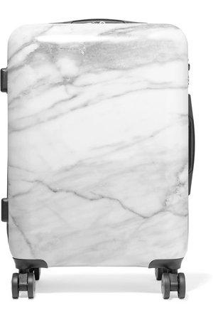 CALPAK   Astyll Carry-On marbled hardshell suitcase   NET-A-PORTER.COM