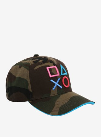 PlayStation Camo Snapback Hat