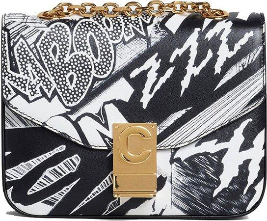 Celine x Christian Marclay Small C Bag with 'Zzhaa Calfskin Print