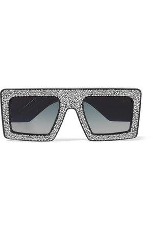 Anna-Karin Karlsson | Mother Beep D-frame crystal-embellished acetate sunglasses | NET-A-PORTER.COM